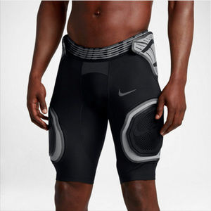 Nike Pro hard plate girdle shorts in black Smaill